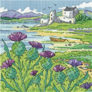 Heritage Crafts Karen Carter Collection Cross Stitch Kit - Thistle Shore
